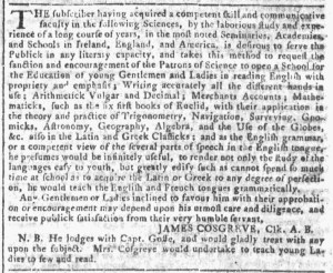 Oct 5 - 10:5:1768 Georgia Gazette