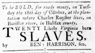 Oct 6 - Virginia Gazette Rind Slavery 7