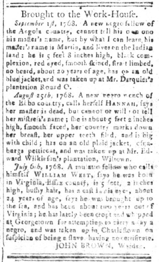Oct 7 - South-Carolina and American General Gazette Slavery 6