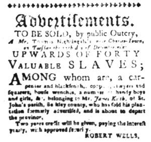 Dec 1 - South-Carolina Gazette Slavery 3