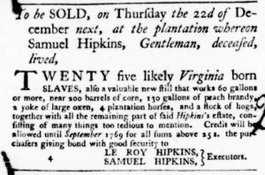 Dec 1 - Virginia Gazette Purdie and Dixon Slavery 6