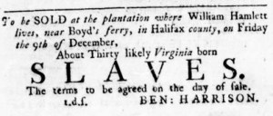 Dec 1 - Virginia Gazette Rind Slavery 11