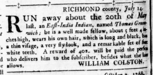 Dec 1 - Virginia Gazette Rind Slavery 14