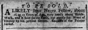 Dec 5 - New-York Gazette Weekly Post-Boy Slavery 1