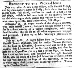 Nov 22 - 11:22:1768 South-Carolina Gazette and Country Journal Supplement