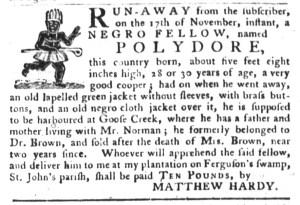 Nov 29 - South-Carolina Gazette and Country Journal Slavery 2