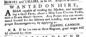 Nov 29 - South-Carolina Gazette and Country Journal Slavery 4
