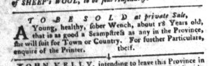 Nov 29 - South-Carolina Gazette and Country Journal Slavery 7