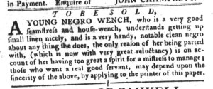 Nov 29 - South-Carolina Gazette and Country Journal Slavery 9