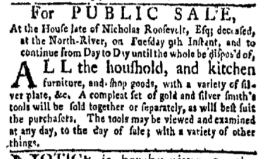May 1 - 5:1:1769 New-York Gazette Weekly Mercury