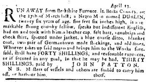 May 11 - Pennsylvania Journal Supplement Slavery 1