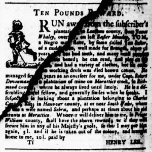 May 11 - Virginia Gazette Purdie and Dixon Slavery 7