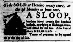 May 11 - Virginia Gazette Purdie and Dixon Supplement Supplement Slavery 1