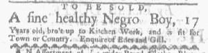 May 15 - Boston-Gazette Slavery 1