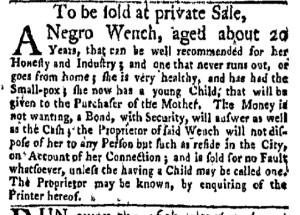 May 15 - New-York Gazette Weekly Mercury Supplement Slavery 3