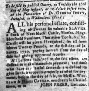 May 15 - South-Carolina and American General Gazette Slavery 5