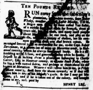 May 18 - Virginia Gazette Purdie and Dixon Slavery 11