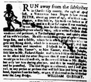 May 18 - Virginia Gazette Purdie and Dixon Slavery 9