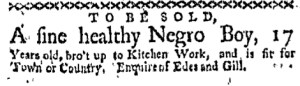 May 22 - Boston-Gazette Supplement Slavery 2