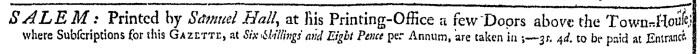 May 23 - 5:23:1769 Essex Gazette