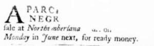 May 25 - Virginia Gazette Purdie and Dixon Slavery 1
