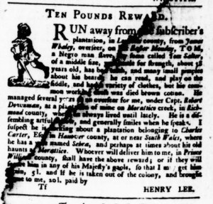 May 25 - Virginia Gazette Purdie and Dixon Slavery 9