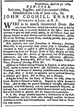 May 29 - New-York Gazette Weekly Post-Boy Slavery 1