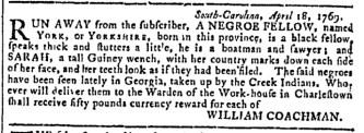 May 3 - 5:3:1769 Georgia Gazette