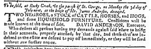 May 31 - Georgia Gazette Slavery 12