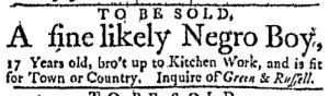 May 8 - Massachusetts Gazette Green and Russell Slavery 1