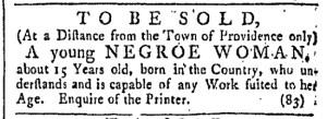 Jul 1 - Providence Gazette Slavery 2