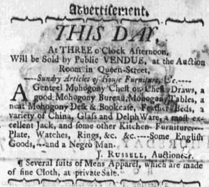 Jul 6 - Massachusetts Gazette Draper Slavery 1