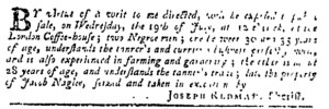 Jul 6 - Pennsylvania Gazette Slavery 1