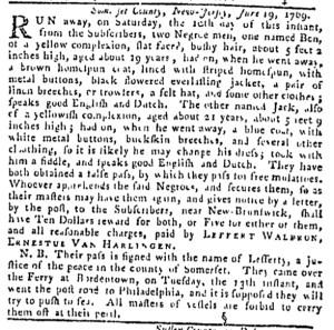 Jul 6 - Pennsylvania Gazette Slavery 4