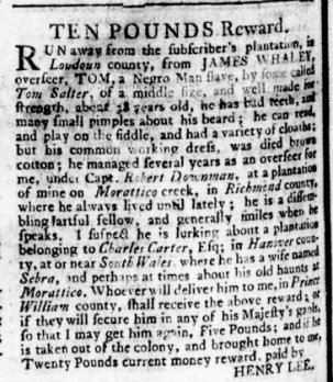 Jul 6 - Virginia Gazette Rind Slavery 4