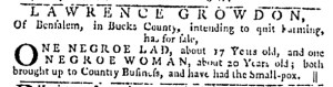 Jun 1 - Pennsylvania Gazette Slavery 1
