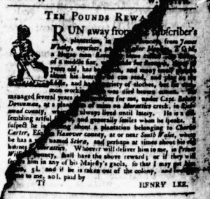 Jun 1 - Virginia Gazette Purdie and Dixon Slavery 8