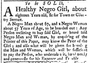 Jun 13 - Essex Gazette Slavery 1