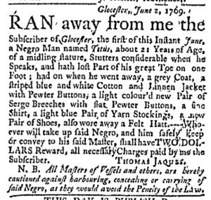 Jun 5 - Massachusetts Gazette Green and Russell Slavery 1