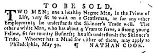 Jun 8 - Pennsylvania Gazette Supplement Slavery 2