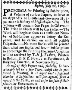 Aug 11 - 8:11:1769 New-Hampshire Gazette