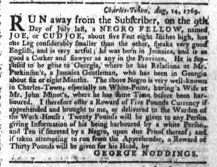 Aug 17 - South-Carolina Gazette Slavery 1