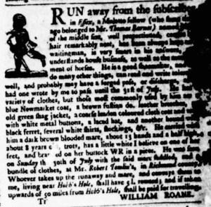 Aug 17 - Virginia Gazette Purdie and Dixon Slavery 1