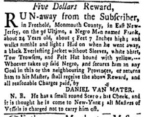 Aug 7 - New-York Gazette and Weekly Mercury Slavery 2