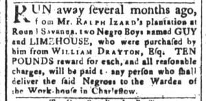 Aug 7 - South-Carolina and American General Gazette Slavery 6