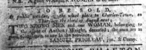 Jul 13 - South-Carolina Gazette Slavery 1