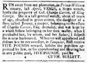 Jul 13 - Virginia Gazette Rind Slavery 3