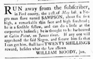 Jul 13 - Virginia Gazette Rind Slavery 6