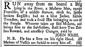 Jul 15 - Providence Gazette Slavery 1