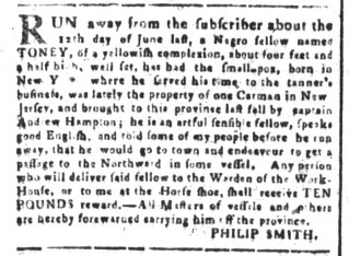 Jul 17 - South-Carolina and American General Gazette Slavery 1